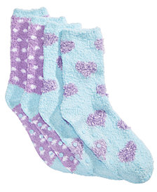 Cozy Socks Little & Big Girls 2-Pk. Printed Gripper Crew Socks