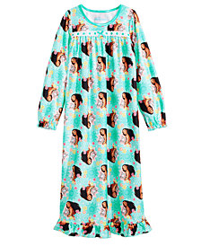 Disney Little & Big Girls Moana-Print Nightgown