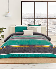 CLOSEOUT! Lacoste Mendi Reversible 190-Thread Count 3-Pc. Full/Queen Comforter Set, Created for Macy's