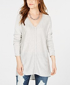 INC V-Neck Sweater Tunic, Created for Macy's