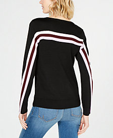 I.N.C. Colorblock Stripe Sweater, Created for Macy's