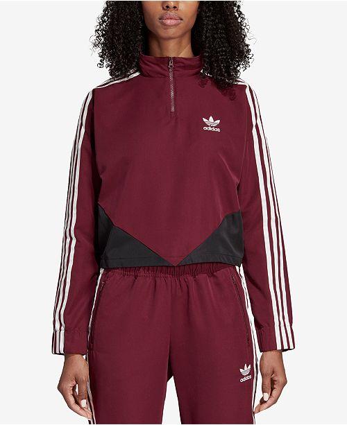 305e76c6da8 adidas CLRDO Quarter-Zip Track Jacket & Reviews - Tops - Women - Macy's