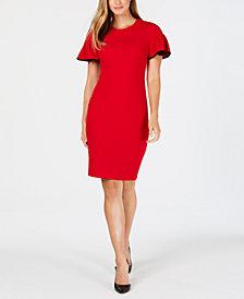 Calvin Klein Flutter-Sleeve Sheath Dress