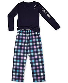 Calvin Klein Big Girls 2-Pc. Terry Pajamas Set