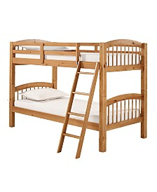 Alaterre Furniture Spindle Twin Over Twin Bunk Bed