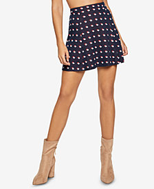 BCBGeneration Dotted A-Line Mini Skirt