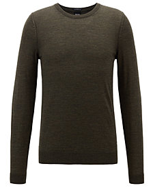 BOSS Men's Virgin Wool Crew-Neck Sweater