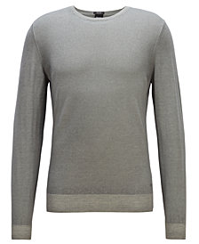 BOSS Men's Garment-Dyed Sweater