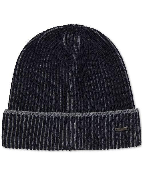 ... Hat  Hugo Boss BOSS Men s Knitted Virgin Wool Beanie ... 2cf9ba0f51f