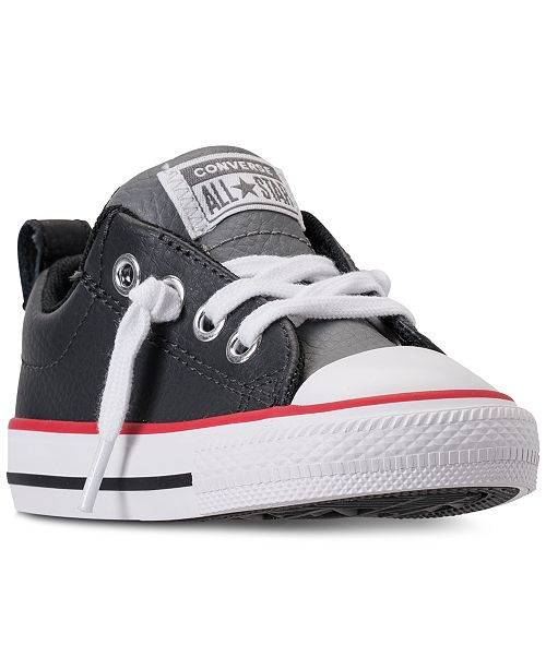 6d13f65ed48cef ... Converse Toddler Boys  Chuck Taylor Street Ox Leather Casual Sneakers  from Finish Line ...