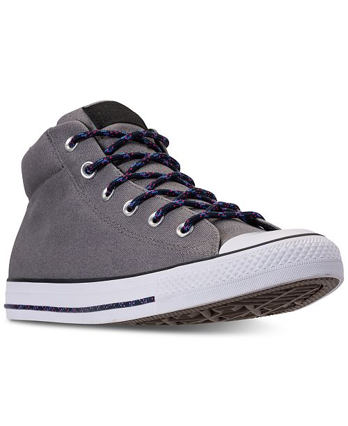 cd3e74ad61e5 Converse Men's Chuck Taylor Street Mid Casual Sneakers from Finish ...