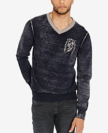 Buffalo David Bitton Men's Classic Fit Skull Graphic Sweater