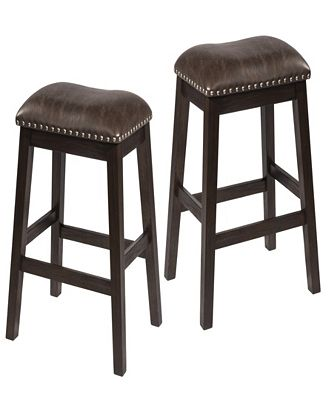 Hillsdale Spencer Non Swivel Backless Counter Stool Set Of 2