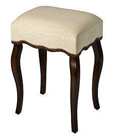 Hamilton Backless Vanity Stool with Nail Head Trim