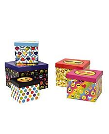 Emoji Pals 5 Piece Storage Box Set