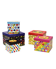 Emoji Pals 5 Piece Storage Box Set