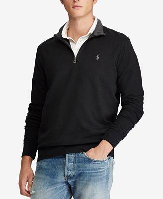 Polo Ralph Lauren Mens Jersey Half Zip Pullover Sweaters Men