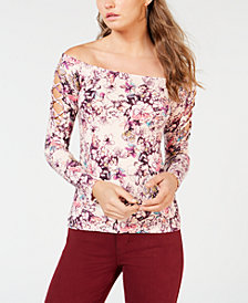 GUESS Catrina Off-The-Shoulder Laced Top