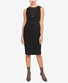 RACHEL Rachel Roy Zane Mesh & Grommet Dress