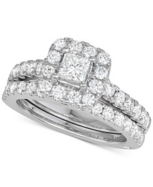 Marchesa Diamond Princess Bridal Set (2 ct. t.w.) in 18k White Gold