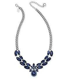 """kate spade new york Crystal & Stone Collar Necklace, 16"""" + 3"""" extender"""