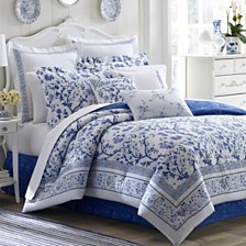 Laura Ashley Queen Charlotte China Blue Comforter Set