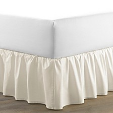 Twin Solid Ruffle Ivory Bedskirt