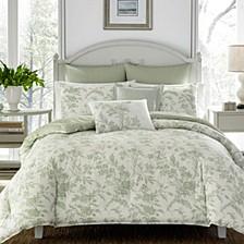 Full/Queen Natalie Pastel Green Comforter Set