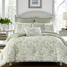 Laura Ashley Full/Queen Natalie Pastel Green Comforter Set