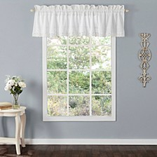 Annabella White Ruffle Window Valance