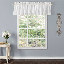 Laura Ashley Annabella White Ruffle Window Valance