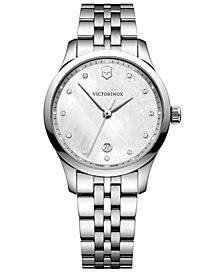 Victorinox Swiss Army Women's Swiss Alliance Stainless Steel Bracelet Watch 35mm