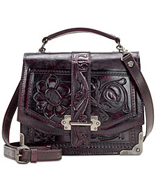 Patricia Nash Stella Burnished Tooled Leather Shoulder Bag