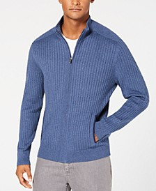 Men's Ribbed Full-Zip Sweater, Classic Fit, Created for Macy's