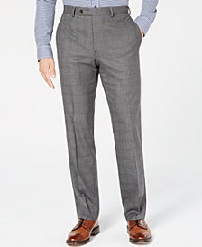 Lauren Ralph Lauren Men's Ultraflex Classic/Regular Fit Gray Plaid Dress Pants