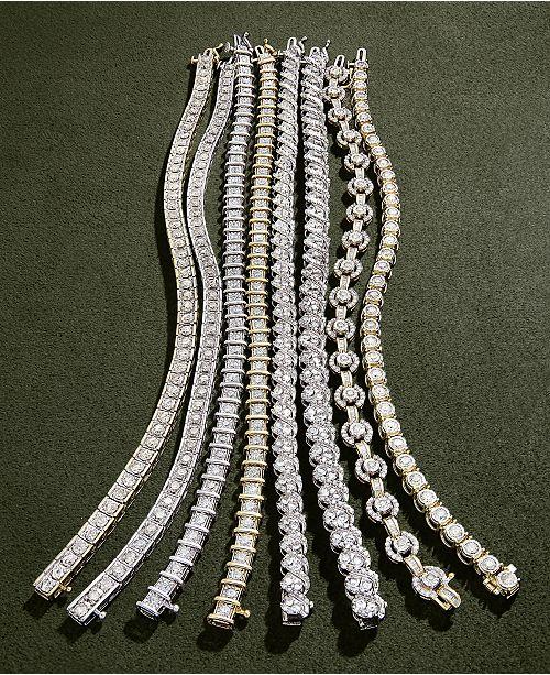Macy S Diamond Bracelet In 10k Gold 5
