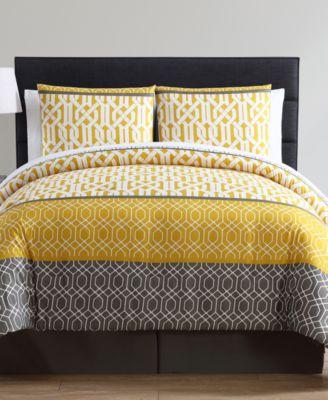 Adam 8-Pc. Geometric Queen Bed-in-a-Bag Set