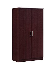 2-Door Armoire with 4-Shelves