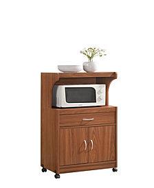 Microwave Kitchen Cart in Cherry