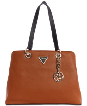Lauri Shoulder Bag in Cognac/Gold