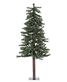 5' Natural Alpine Artificial Christmas Tree with 150 Clear Lights