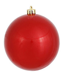 "Vickerman 4"" Red Candy Ball Christmas Ornament, 6 per Bag"