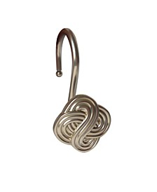 Shower Hooks - Gaelic Knot - Satin Nickel