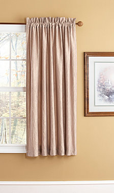 "63"" Aretha Crushed Faux Silk Window Panels, Chocolate"