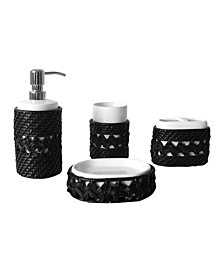 Sebrina 4 pieces Bathroom Accessory Set