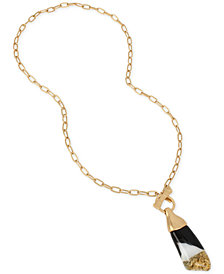 "Robert Lee Morris Soho Gold-Tone Colorblocked 29"" Pendant Necklace"