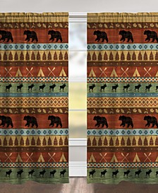 "Bear Lodge 84"" Black Out Window Curtain"
