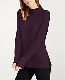 Calvin Klein Textured Mock-Neck Sweater