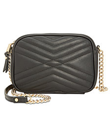 I.N.C. Glam Quilted Camera Crossbody, Created for Macy's