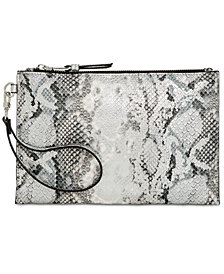 I.N.C. Glam Snake Party Wristlet Clutch, Created for Macy's